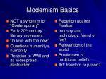 modernism basics