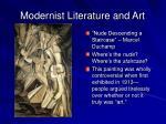 modernist literature and art