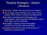 reading strategies modern literature