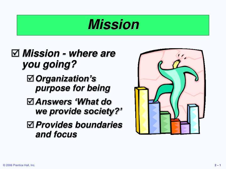 mission n.