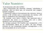 valor nutritivo