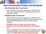 new construction codes and standards
