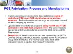 pge fabrication process and manufacturing