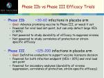 phase iib vs phase iii efficacy trials