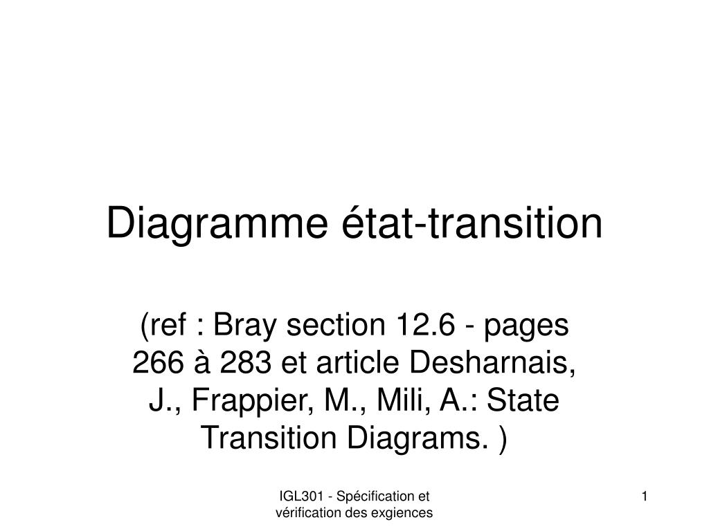 diagramme tat transition l.