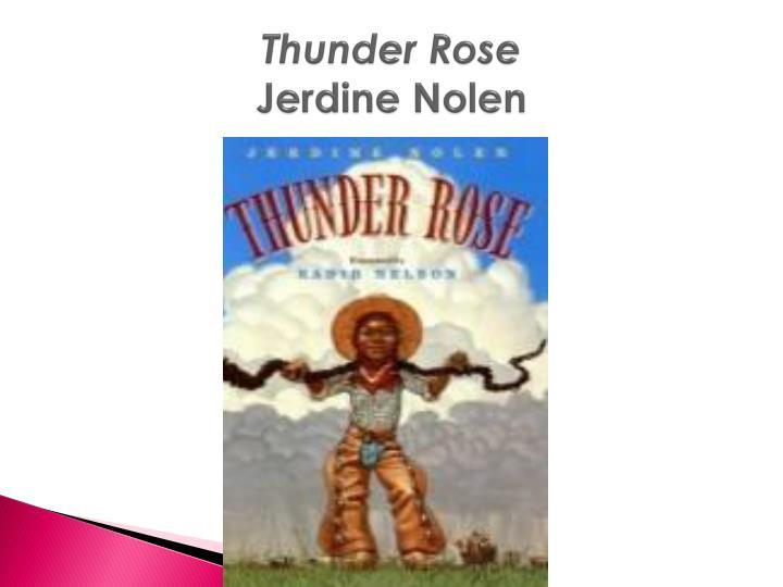 thunder rose jerdine nolen n.