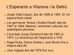 l esperanto a vilanova i la geltr