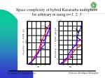 space complexity of hybrid karatsuba multipliers for arbitrary m using n 1 2 3