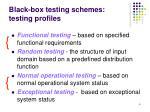 black box testing schemes testing profiles