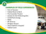 examples of field experiences