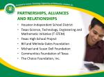 partnerships alliances and relationships