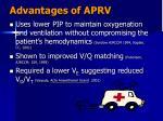 advantages of aprv