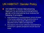 un habitat gender policy12