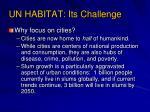 un habitat its challenge