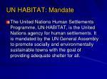 un habitat mandate