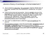 jevons s theory of exchange a formal statement 1