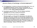 jevons s theory of exchange a formal statement 7