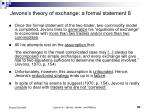 jevons s theory of exchange a formal statement 8