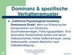 dominanz spezifische verhaltensmuster1