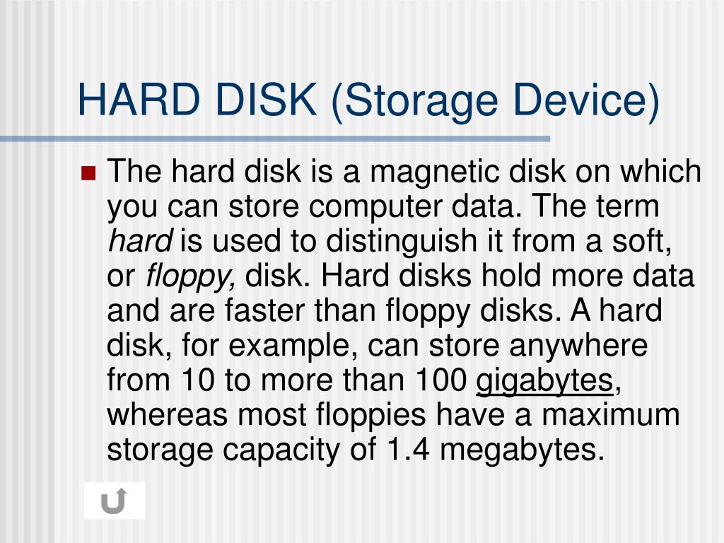 HARD DISK (Storage Device)
