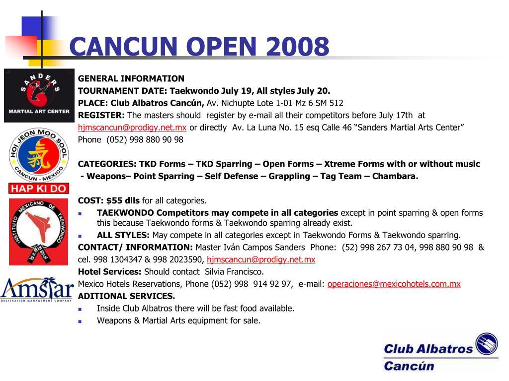 cancun open 2008 l.