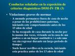 conductas se aladas en la exposici n de criterios diagn sticos dsm iv tr 3