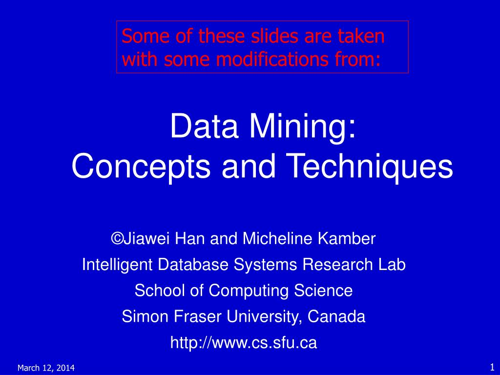 data mining concepts and techniques l.
