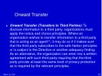 onward transfer