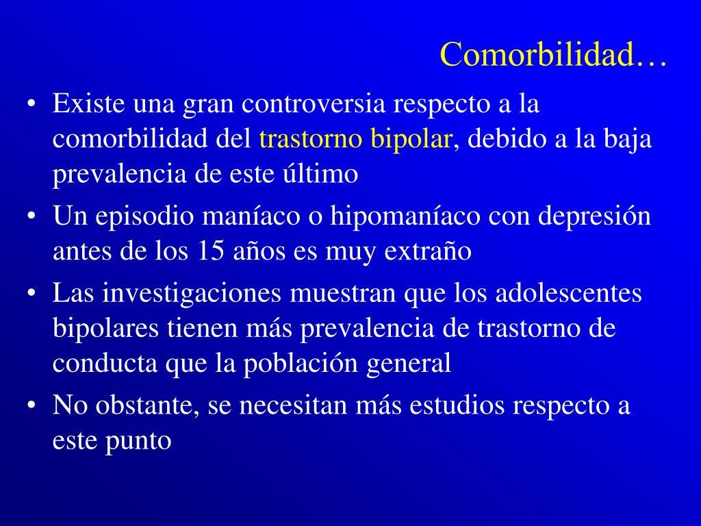 Comorbilidad…