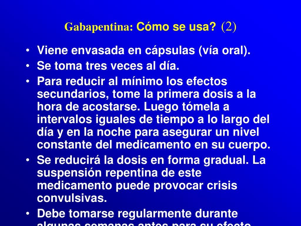 Gabapentina: