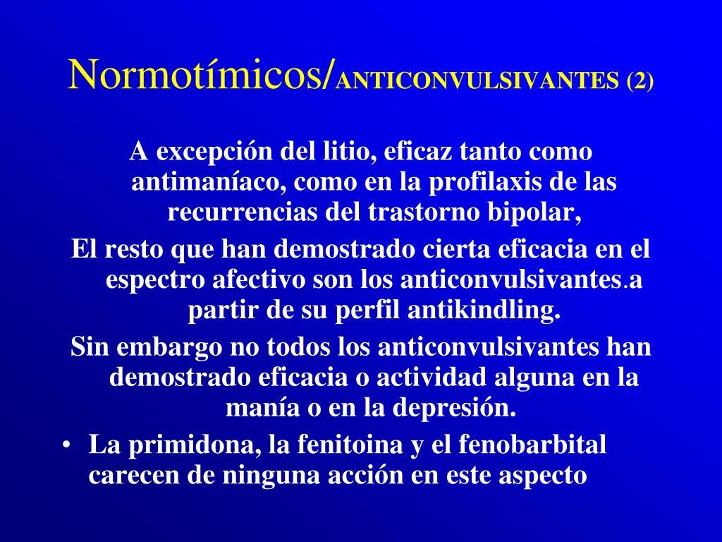 Normotímicos/