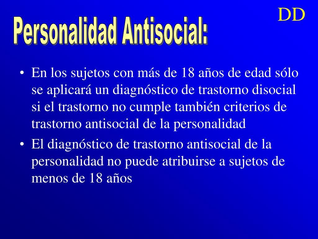 Personalidad Antisocial: