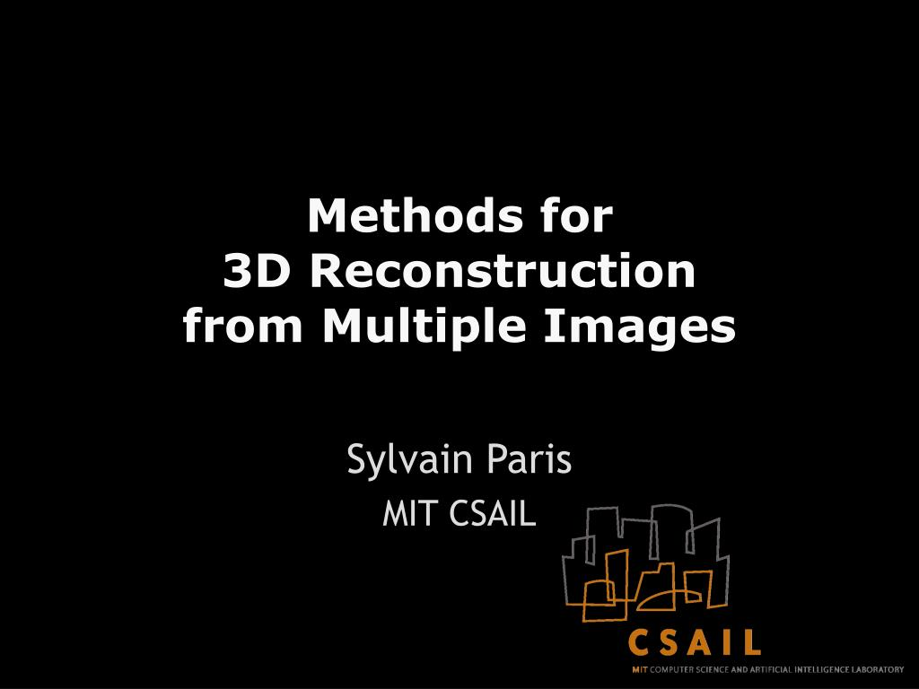 methods for 3d reconstruction from multiple images l.