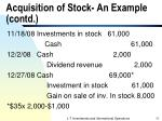 acquisition of stock an example contd