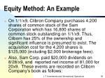 equity method an example