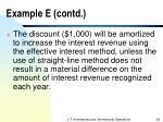 example e contd