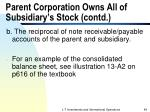 parent corporation owns all of subsidiary s stock contd