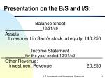 presentation on the b s and i s