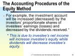 the accounting procedures of the equity method1