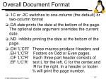 overall document format