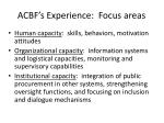 acbf s experience focus areas