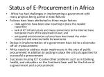 status of e procurement in africa