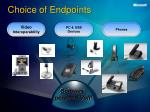 choice of endpoints