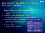 microsoft s real time c odecs rtaudio and rtvideo