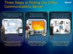 three steps to rolling out office communications server