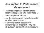assumption 2 performance measurement