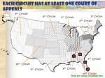 each circuit has at least one court of appeals79