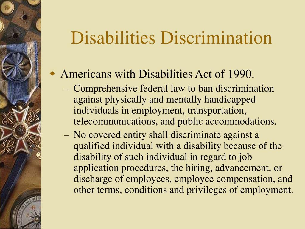 Disabilities Discrimination