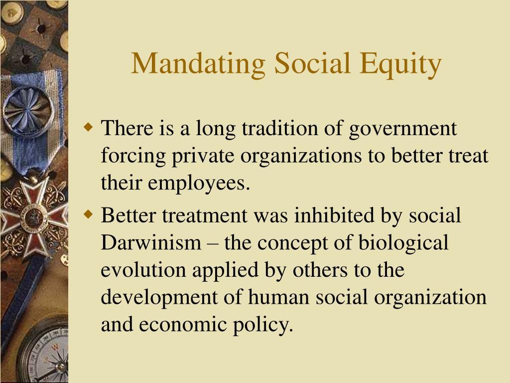 Mandating Social Equity
