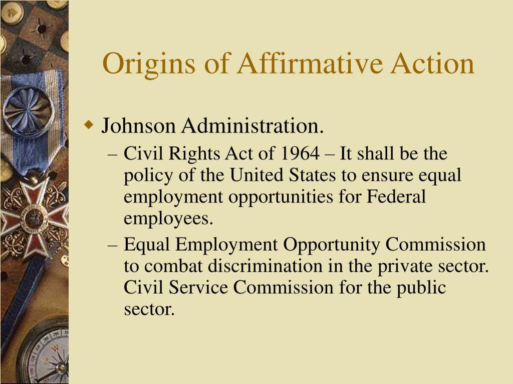 Origins of Affirmative Action
